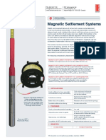 Magnetic Settlement Systems LetterSize SSB0001O