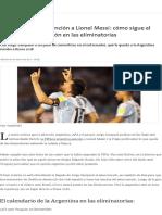 Tras Levantarle La Sanción a Lionel Messi_ Cómo Sigue El Camino de La Selección en Las Eliminatorias