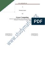 CSE Green Computing Report