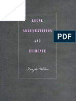 Legal Argumentation and Evidence