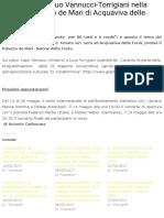 La musica del duo Vannucci-Torrigiani nella sala del Palazzo de Mari di Acquaviva delle Fonti | Vent