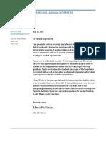 taylor ref letter