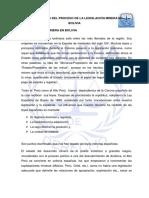 Antecedentes Del Proceso de La Legislación Minera en Bolivia