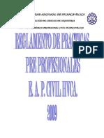 Reglamento de Practicas Pre Profesionales UNH