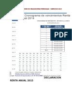 Declaracion Renta Anual 2015