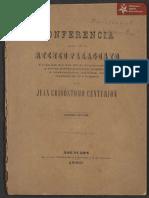 Conferencia Juan Crisostomo Centurión. Asunción 1880