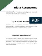 Auditoria a Ascensores