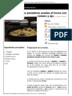 Maestros Del Asado_Patatas y Batatas Panaderas Asadas Al Horno Con Romero y Ajo