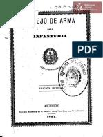 Manejo de Arma para Infantería del Ejército Nacional. Asunción año 1897