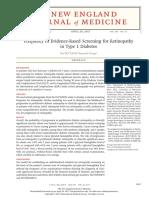Frecuence of Evidence Retinopathy Type 1 Diabetes