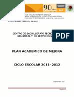 Plan de Mejora DGETI 2011 CBTis 21
