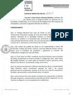 Moción de Saludo - Colegio Nacional San Juan de Chota