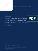 Syntactical Integration of Product Information From Semi-Structured Sources