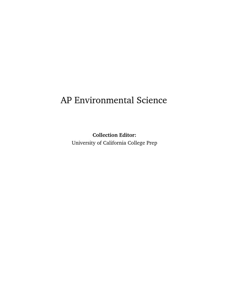 ap environmental science hw chp4 essay Ap environmental science (apes) is interdisciplinary course, involving the fields of ecology, biology, ocean and  assignment sheet at the end of each unit and they will count as part of your homework grade  35 points multiple choice and 65 points short answer and essay.