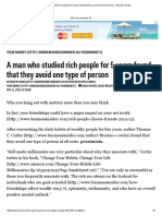A Man Who Studied Rich People for 5 Years Found That They Avoid One Type of Person - Business Insider