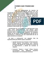 Organizaciones Que Financian Proyectos