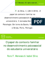 O papel do contexto familiar no desenvolvimento psicossocial do estudante universitário