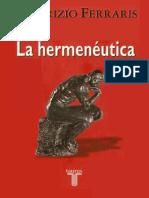 La Hermeneutica Ferraris Maurizio