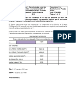 Actividad No 3, Tecnología del concreto- UMNG Ingeniería Civil