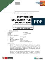 Modelo Informe Final Aplicacion Tutoría 2016