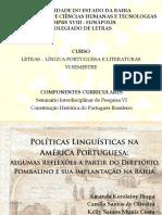 SIP6 - Políticas Linguísticas Na América Portuguesa