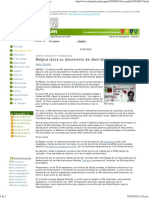 Bélgica Lanza Su Documento de Identidad Electrónico