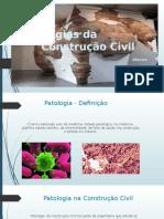 Patologias Da Construção (1) - Apresentação