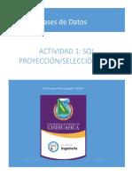 301654 Raul Villarreal Actividad 1 - SQL Proyeccion Seleccion
