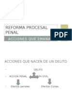 Acción Penal y Civil en El CPP