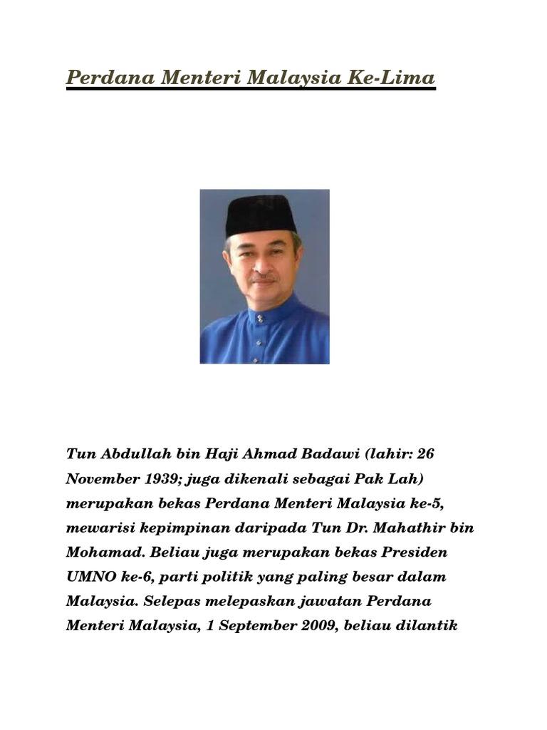 Tun Abdullah Bin Haji Ahmad Badawi