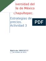 Actividad Integradora Semana 3 Estrategias de Precios.