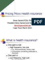 (Garand) Pricing Micro Health insurance