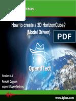 HowToCreate ModelDriven HorizonCube OpendTectv4.4rev