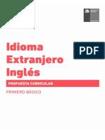 Propuesta Curricular Inglés 1º básico