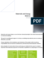 Materials and Energy Balance - Course 1 Introduction