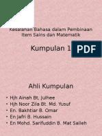 Kump 1 - Isu Bahasa