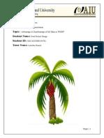 Final Thesis Advantage & Disadvantage of Oil Palm in WNBP
