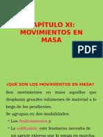 CAPÍTULO XI MOVIMIENTO DE MASA.pptx