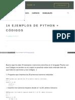 Www Comoprogramar Org Ejemplos de Python Codigo
