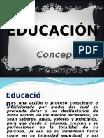 Educación y Tipos de Educación
