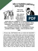 Novena San José