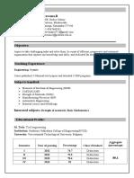 Praveena Resume (2016)