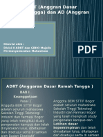 Revisi ADRT (Anggran Dasar Rumah Tangga) Dan AD ( Anggaran Dasar )