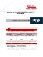 RM-PG42-SSOMA Documentación, Control de Documentos y Registros