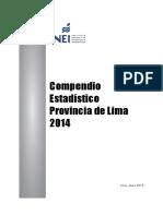 Compendio Estadístico Lima 2014