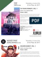 Novedades Milky Way Mayo 2017