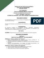 Reglamento de Seminario 2016 Profesorado