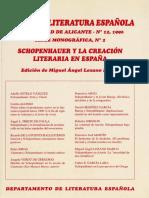 Schopenhauer y Lit Española