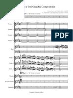 tributo a tres grandes compositores - full score