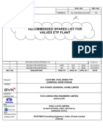 130-S 040 R2 - ETP Valves Recommended Spare List